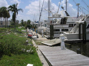 A Dock, Condemned after Hurricane Charley